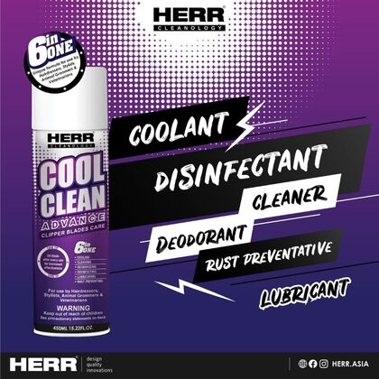 HERR Cleanology 6 in 1 Clipper Blade Care Combo - 450ML+150ML